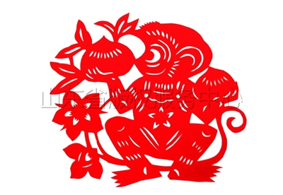 十二生肖剪纸猴
